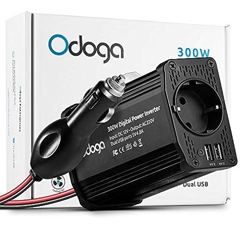 Convertisseur 12v 220v 300w - Odoga Convertisseur Transformateur Chargeur Pour Voiture 300W