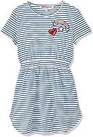 RED WAGON Mädchen Streifen-Kleid mit Applikationen, Blau, Blau (Navy)