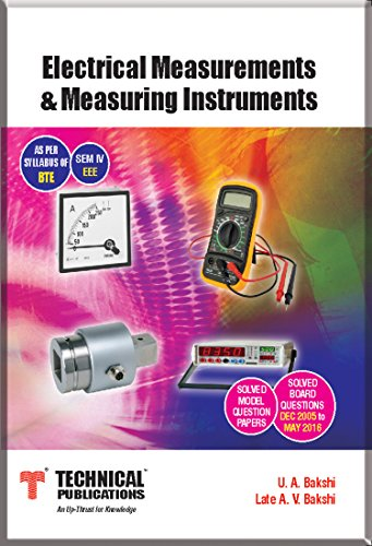 Electrical Measurements & Measuring Instruments for DIPLOMA KARNATAKA (SEM-IV EEE Course-2015)