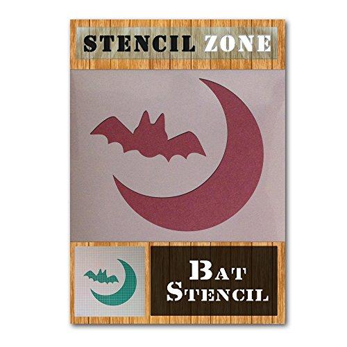 Fledermaus Halloween Mylar Gemälde Kürbis Art Wand Schablone Vier A6 Size Stencil - XXSmall