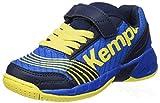 Kempa Jungen Attack Junior Sneaker,Blau (Bleu Profond/jaune Citron), 31 EU (12.5 UK)