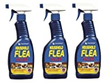 3 x Household Flea Killing Spray For Cat Dog Carpet Soft Furniture Bed