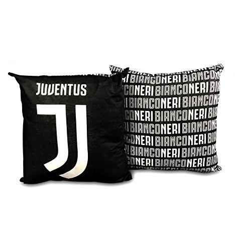 tex family Cuscino ARREDO Juve Ufficiale Juventus Cm. 40x40 Nero e Cartolina Torino È