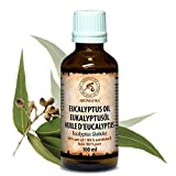 Eukalyptusöl Ätherisch 100ml, Reines und Natürliche Eukalyptus Öl, Eucalyptus Globulus - besten für Beauty - Baden -Sauna - Körperpflege - Wellness - Schönheit - Aromatherapie - Entspannung - Massage - Inhalieren - Aroma diffuser - Duftlampe -Glasflasche, Essenzielles Eukalyptusöl von AROMATIKA