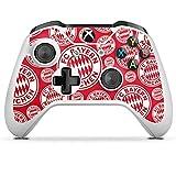 DeinDesign Skin Aufkleber Sticker Folie für Microsoft Xbox One S FC Bayern München Muster Logo