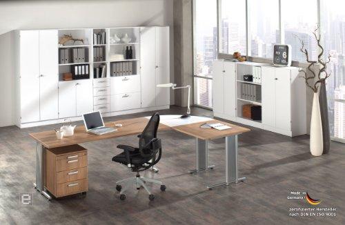 14tlg HAMMERBACHER System Büro Büromöbel Büroeinrichtung Nussbaum ...