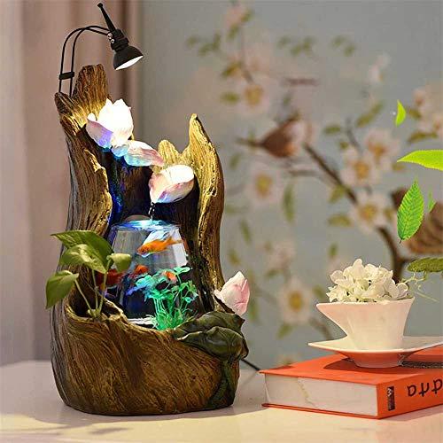 SHELLTB Aquarium Wonderland Fishtank Baum hohlen Brunnen mit Licht Desktop Büro Dekoration Indoor Herzstück Geschenk wie Tischlampe,1pcs (Herzstück Baum)