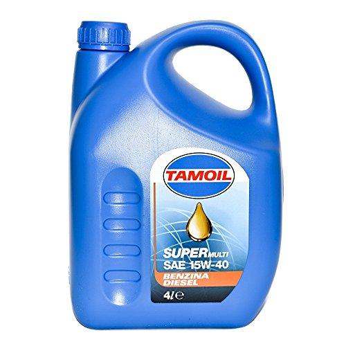 TAMOIL 4Lt Olio motore minerale Super Multifuel 15W-40 auto benzina, gas, dies