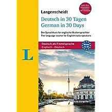 """Langenscheidt Deutsch in 30 Tagen - German in 30 days - Sprachkurs mit Buch, 2 Audio-CDs, 1 MP3-CD und MP3-Download: Der Sprachkurs für englische ... (Langenscheidt Sprachkurse """"...in 30 Tagen"""")"""