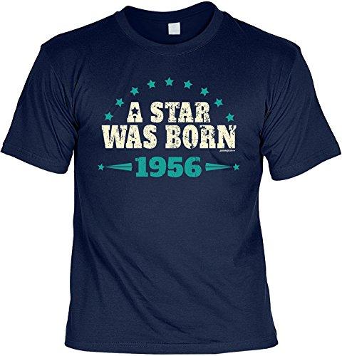 Jahrgang 1956 T-Shirt: A star was born 1956 Farbe: navy-blau Navyblau