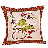 Berrose-Bettwäsche aus Baumwolle Weihnachtsbaum-Reißverschluss Kissenbezug Werfen Startseite dekorative Case Set Leinen Dekokissen deckt mit unsichtbaren Reißverschluss, geometrische Muster