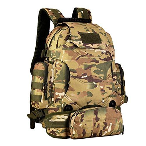 40 Liter Mit Einer Kombination Aus Drei Freien Multifunktions Rucksack Schultertaschen Taschen Reiten Bergsteigen Taschen Tarnung,WolfBrown CPCamouflage