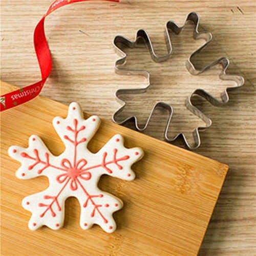 CanVivi Ausstecher-Set Schneeflocken Weihnachten Ausstechformen Ausstecher für Plätzchen Kekse und Fondant