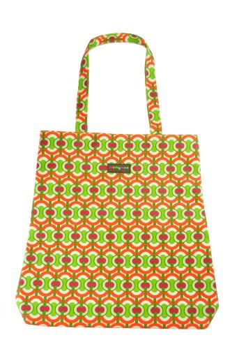 Momymoo matt beschichtet Öl Tuch Shopper–Swirl grün (Öl-swirl)