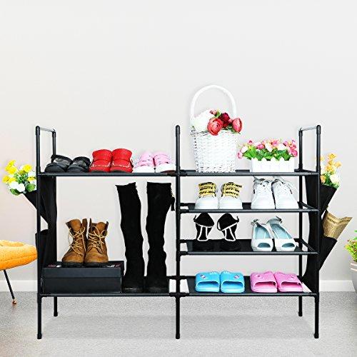Homemaxs Schuhablage | 4 Etagen für 32 Paar Kinder-Schuhe, Stiefel, High Heels | Ständer für...
