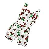 Bekleidung Longra Baby Strampler Neugeborene Säuglingsbaby Mädchen Erdbeere Print ärmellos Strampler Jumpsuit Bodysuit Sommer Babykleidung (0-24 Monate) (80CM 18Monate, White)