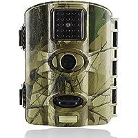 Trail Watcher Wildkamera, 16MP, 1080P, Infrarot-Nachtsicht-Kamera mit 6,1 cm (2,4 Zoll) LCD, 24IR-LED bis zu 20m, IP65-wassergeschützt, für Wildtiere, Jagd, Überwachung und Bauernhof-Sicherheit