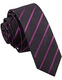 Cravate Super Slim à Rayures Obliques