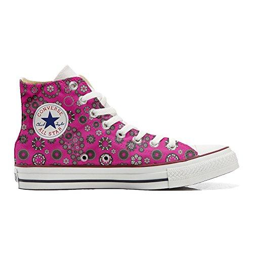 Converse all star personnalisé chaussures (artisanat produit paysley) rose vif