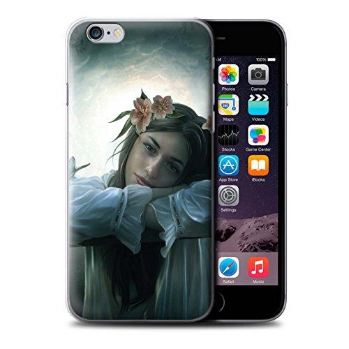 Officiel Elena Dudina Coque / Etui pour Apple iPhone 6+/Plus 5.5 / Lagune À la Nuit Design / Un avec la Nature Collection Rêveur