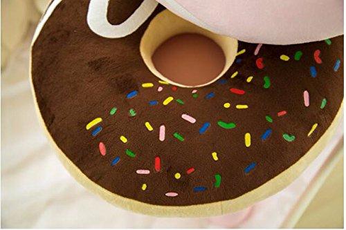 Rüschen-kissen (icase4u® Emoji-heißer Verkaufs-Rüschen besetzte Kissen Dekorative Kissen Donut Big Eindickung Kissen Siesta (braun))
