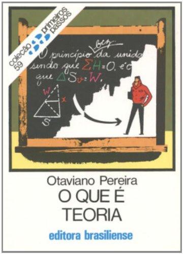 O QUE E TEORIA - 10 ED.