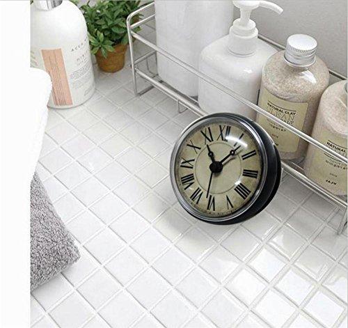 Wanduhr 3D European-style Retro Badezimmer Glocken / Toilette / Küche / Wasserdichte Sauger Uhr / Haushaltsgeräte Kühlschrank Wanduhr 8CM (Direktsauger Kühlschrank Uhr) (Helle Kühlschrank)