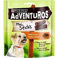 Purina Adventuros Mini Sticks Snacks para Perro - Pack de 6 x 90 g - Total 540 g