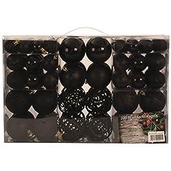 Esclusivo palline di Natale palle di Natale Set con{100} pezzi colore Nero
