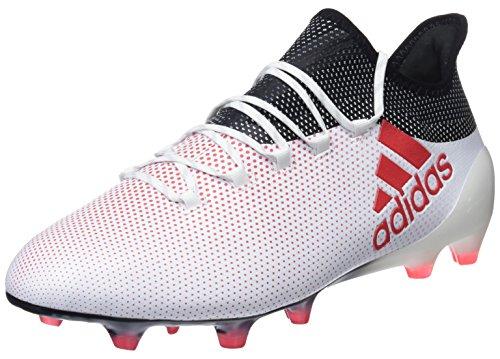 adidas Herren X 17.1 FG Fußballschuhe Weiß (Ftwwht/Reacor/Cblack) 44 EU