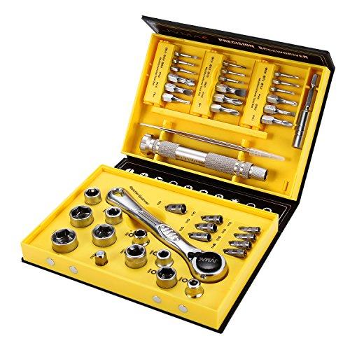 Schraubendreher Set, JVMAC Magnetischer Präzisions Schraubendrehersatz Werkzeugset Sechskant Schraubendreher für Handy, Tablet, PC, Macbook, Uhr und Haushaltsgeräte (41 IN 1)