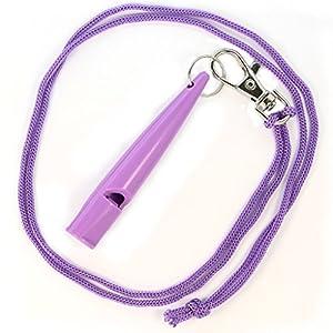 Original tameho pour dressage de chien avec sifflet bande pour l'éducation Formation d'entraînement en plastique Violet 210.5Sifflet simple V Sifflet Haute Fréquence...