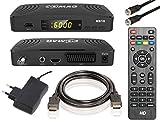 COMAG HD10 Digitaler HD Sat Receiver (FULL HD, HDTV, DVB-S2, HDMI, SCART, PVR-Ready, USB 2.0) inkl. HDMI-Kabel + Sat Anschlusskabel, schwarz
