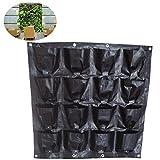 16Pocket Hanging Vertical vaso da giardino a parete da parete piantare fiori crescere bag per ortaggi da balcone per interni o esterni, 16 pockets