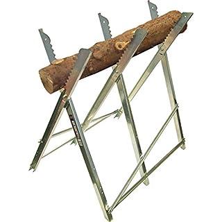 Pike & Co® [ATARAXY Branded] Folding Galvanised Log Saw Horse [Pack of 1] - Min 3yr Warranty