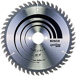 Bosch 2 608 640 617 - Hoja de sierra circular Optiline Wood - 190 x 30 x 2,6 mm, 48 (pack de 1)