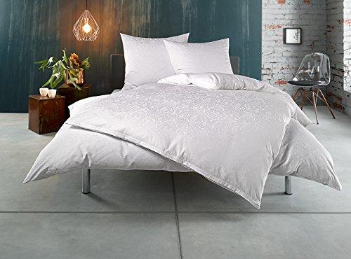 Bettwaesche-mit-Stil Mako Satin Damast Bettwäsche Ornament aus 100% Baumwolle – Viele Größen