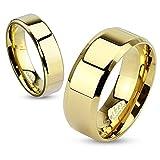 Damen Herren Ring Edelstahl Partnerring Ehering Verlobungsring Bandring gold 62 - Ø 19,76 mm 8 mm