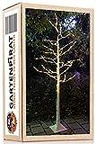 LED-Baum Birke 180 cm weiß 160 LED warmweiß außen für Weihnachten