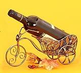 Portaborraccia BICICLETTA risciò in bottiglie di vino a forma di supporto in metallo regalo