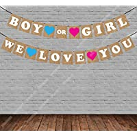 """Party Propz """"Boy or Girl We Love You"""" Baby Shower String Banner"""