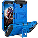 BEZ® Hülle für Samsung J5 2017 Hülle, Handyhülle Schutzhülle Outdoor Kompatibel für Samsung Galaxy J5 2017 [Heavy Duty Serie] Dual Layer Armor Case Stoßfestes hockproof Robuste, Blau
