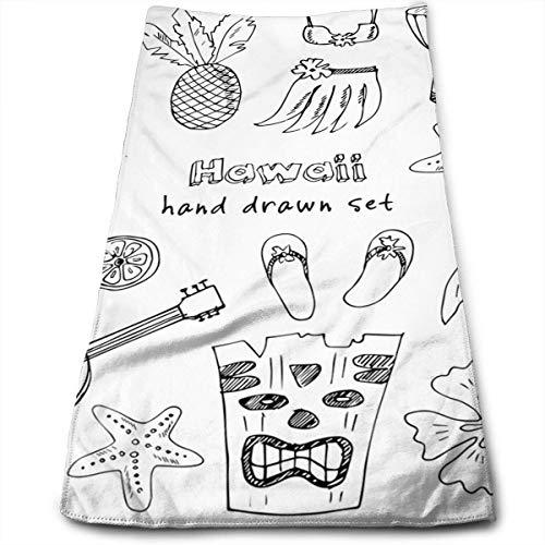 Hula-rock-muster (Hawaii Symbole und Icons einschließlich Hula-Rock Mikrofaser 3D-Design-Muster Handtuch 12 x 27,5 Handtuch Handtücher)