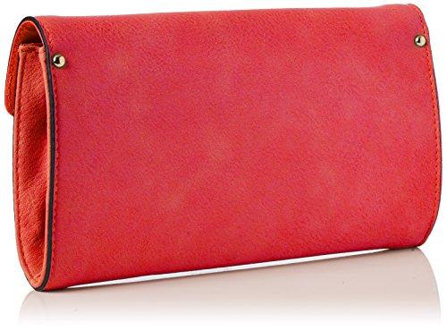 Swanky Swans Damen Bali Snakehead Leather Clutch, 5x16x28.4 cm Rot (Scarlet)