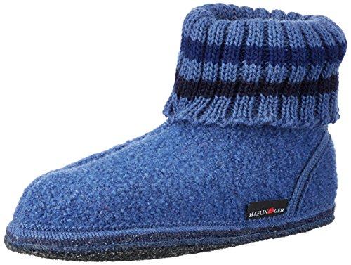 Haflinger Hüttenschuh Paul, Sneaker alte Unisex - Adulto Blu (Roeal)