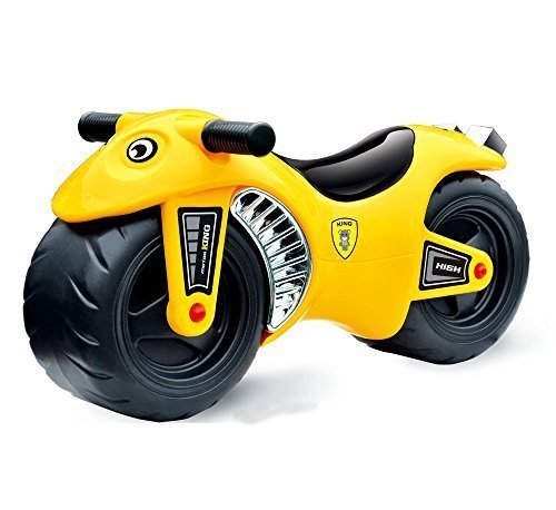 deAO Ride On Balance Motorbike for Babies & Toddlers Push Along Vehicle in YELLOW