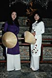 783078 Vietnamese Girls In Ao Dai Traditional Dress Inside Kahi Kinh's Tomb A4 Photo Poster Print 10x8