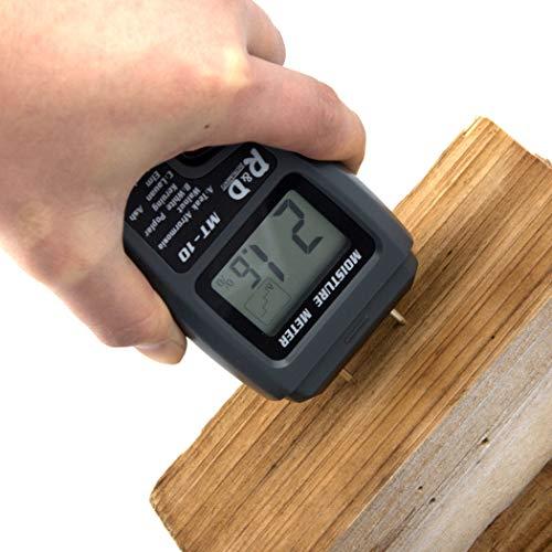 Gfone Holzfeuchtemessgerät, Digital 4 Kalibrierte Holzgruppen Holzfeuchtedetektor, 2 Stifte Holzfeuchtetester Wasser, HD Digital LCD Display mit einer 9V Batterie (inklusive) Reichweite 0{a924584dd81675df298f592d2102d644375c66a0ad3336ed22b0cd770b4b52b1} - 99.9{a924584dd81675df298f592d2102d644375c66a0ad3336ed22b0cd770b4b52b1}