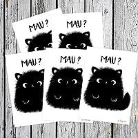 TinyTami ★ 5 x Witzige Katzen Aufkleber ★ Kater MOO