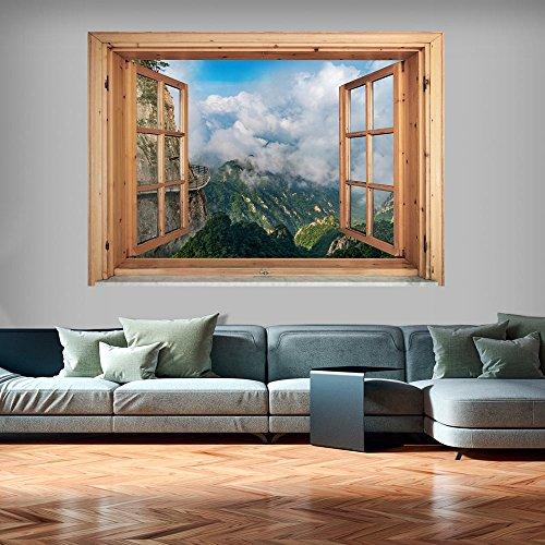 (murando - 3D WANDILLUSION 140x100 cm Wandbild - Fototapete - Poster XXL - Fensterblick - Vlies Leinwand - Panorama Bilder - Dekoration - Natur Landscape)